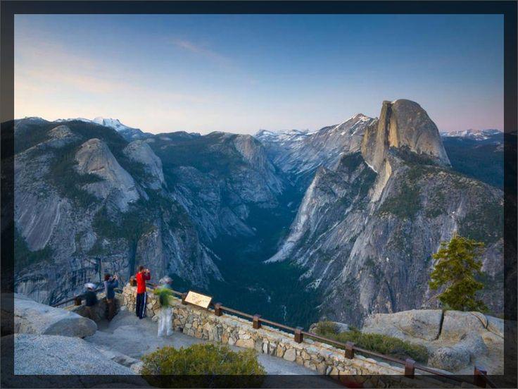 Glacier Point, Yosemitský národní park (Kalifornie, USA)