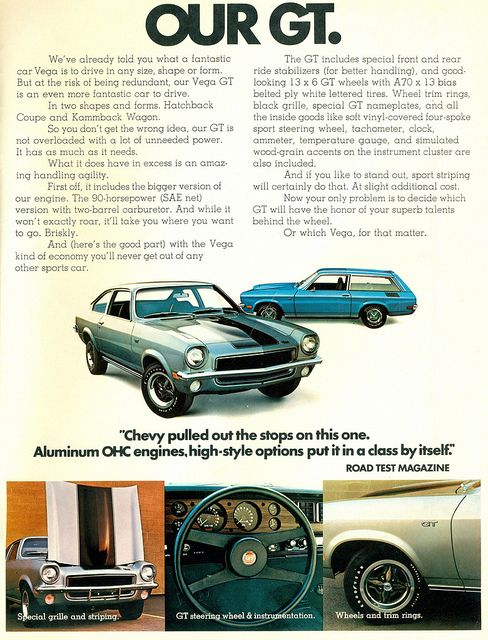 1972 Chevrolet Vega GT - omg, did we ever stir up some trouble in this car!  right, lessie kay?!  fun times!