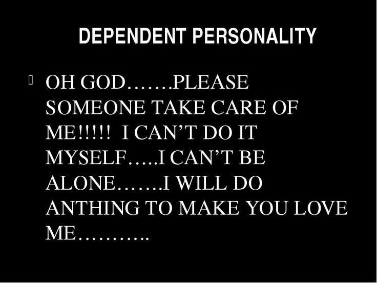 dependent personality disorders essay Read this essay on dependent personality disorders in women come browse our large digital warehouse of free sample essays get the knowledge you need in order to pass your classes and more.