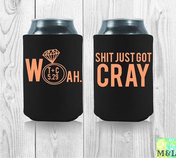 Clever Wedding Can Koozie Sayings Get Fun Party Favors For Your Day Customize And