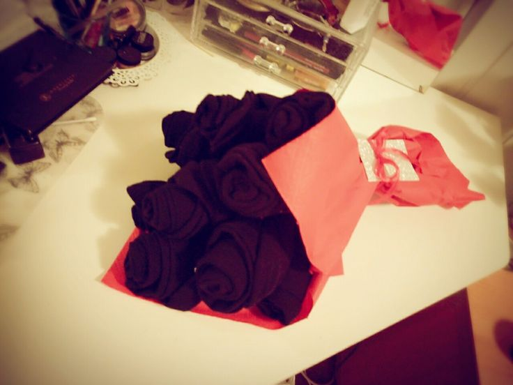 Black socks bouquet / present idea husband