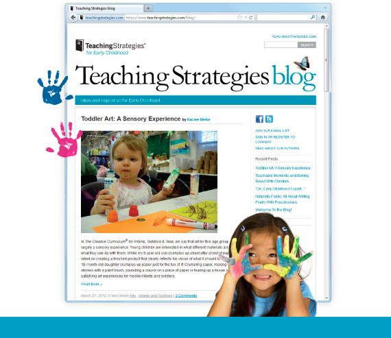 You can get inspired with new teaching ideas for pre-school with the new blog from Teaching Strategies, publishers of the Creative Curriculum.  They really do have fresh ideas here for you to think about and maybe implement.