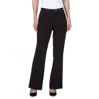 Principles Petite by Ben de Lisi Designer black origami bootleg trousers- at Debenhams.com