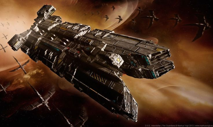 """D.S.E. Interstellar: The Guardians"" by #MarkusVogt. #sciencefiction #scifi #spaceship"