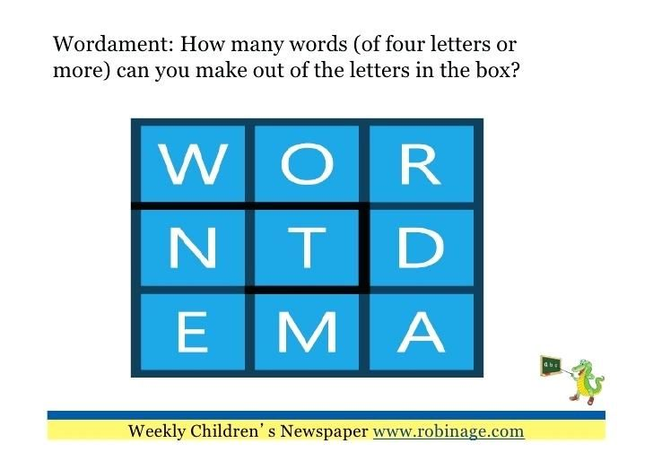 Words You Can Make With The Letters Make A Word Out Of The News To