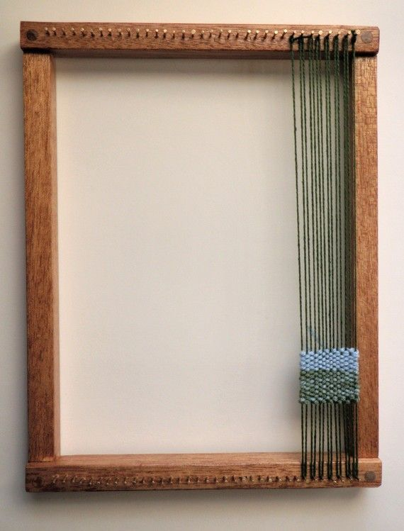 Picture frame loom for hand weaving......weaving the families together, each guest weaves in a piece of yarn or fabric.