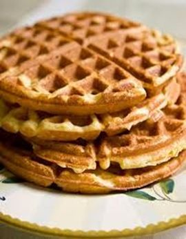 Wonderful Low-Carb Waffles or Pancakes using flax and vanilla whey protein powder