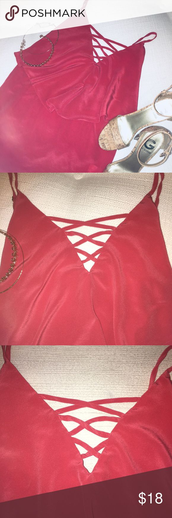 Bailey 44 top! Cute coral top! Bailey 44 Size: M  Color: coral  Spaghetti straps (adjustable)  Top has been worn a few times  Great condition! ❣️ Please note: top is only for sale ty! Bailey 44 Tops Camisoles