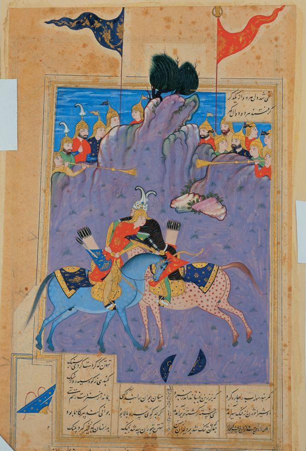 battle of rostam & sohrab 1564