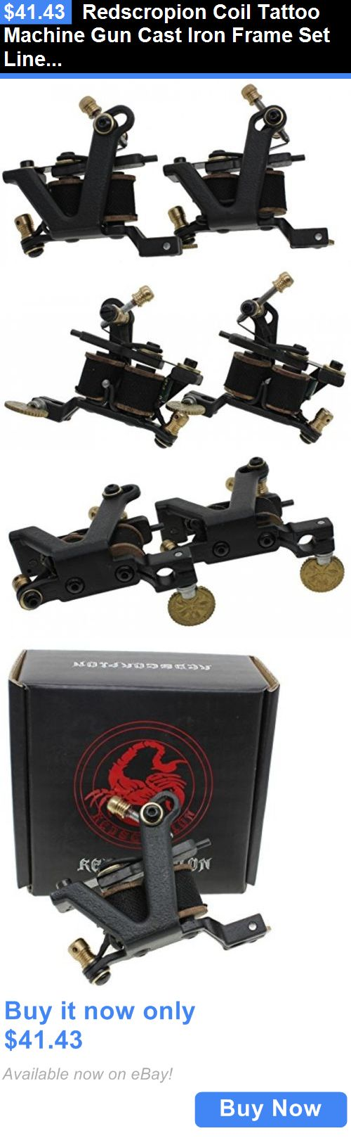 Tattoo Machines and Parts: Redscropion Coil Tattoo Machine Gun Cast Iron Frame Set Liner Shader For Tattoo BUY IT NOW ONLY: $41.43