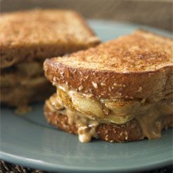 Grilled banana sandwich 1 large banana 1 tablespoons for 1 tablespoon of peanut butter