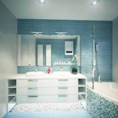 Banheiros minimalistas por Polovets & Tymoshenko design studio