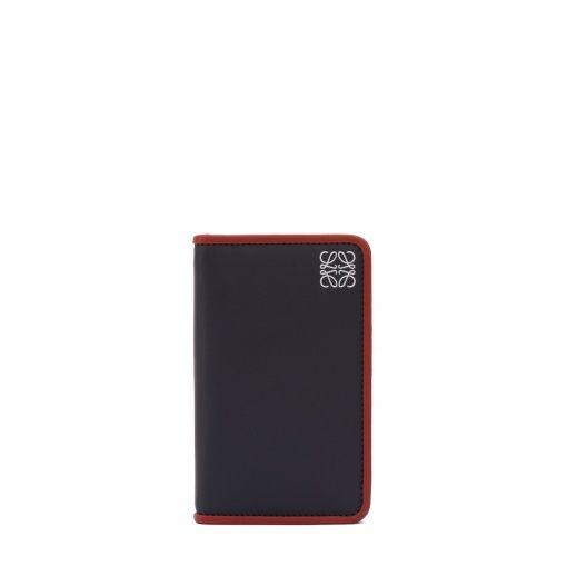 ロエベ カードケース - BUSINESS CARD HOLDER Navy Blue/rust Red