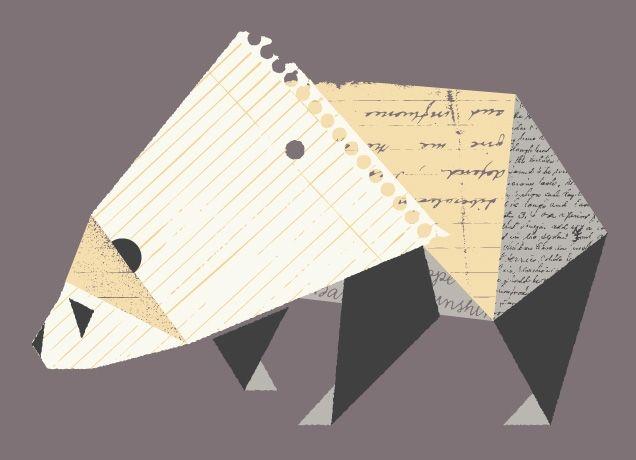 The Paper Panda by Ross BrugginkDesign Lecture, Graphics Art, Paper Cranes, Threadless Design, Graphics Design, Paper Pandas, Pandas Art, Paper Collage, Design Studios