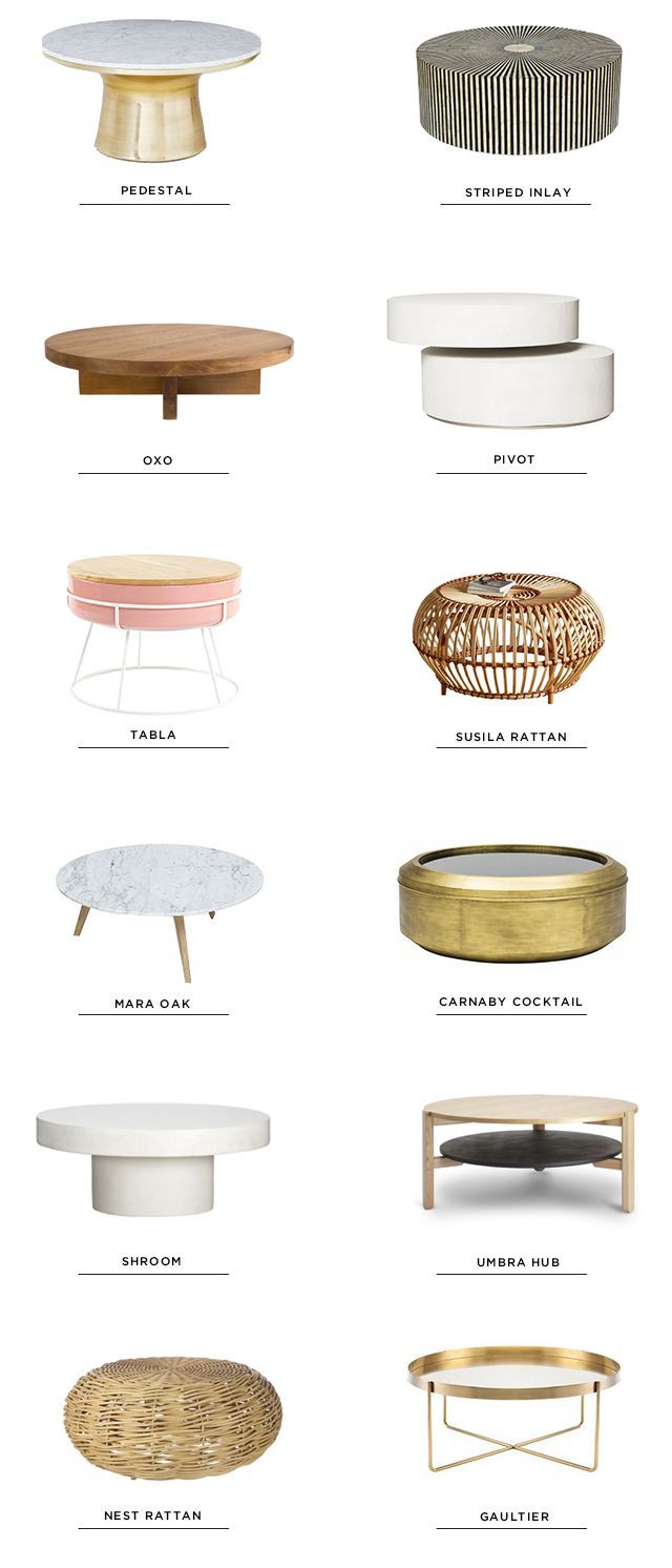 12 Round Coffee Tables (smitten Studio)