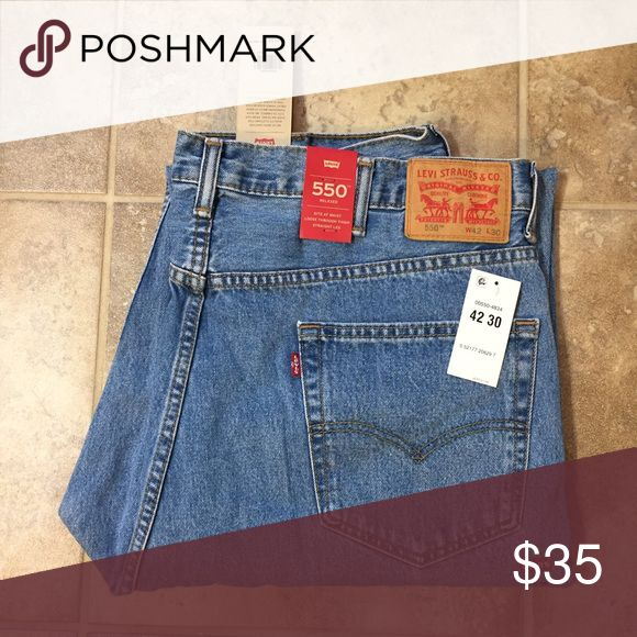 Levi's 550 Relaxed Fit light wash jeans Levi's 550 Relaxed Fit light wash jeans. 42 x 30 bought for my husband who lost weight. Levi's Jeans Relaxed