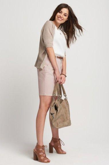 Bavlněná sukně chino s páskem   ORSAY