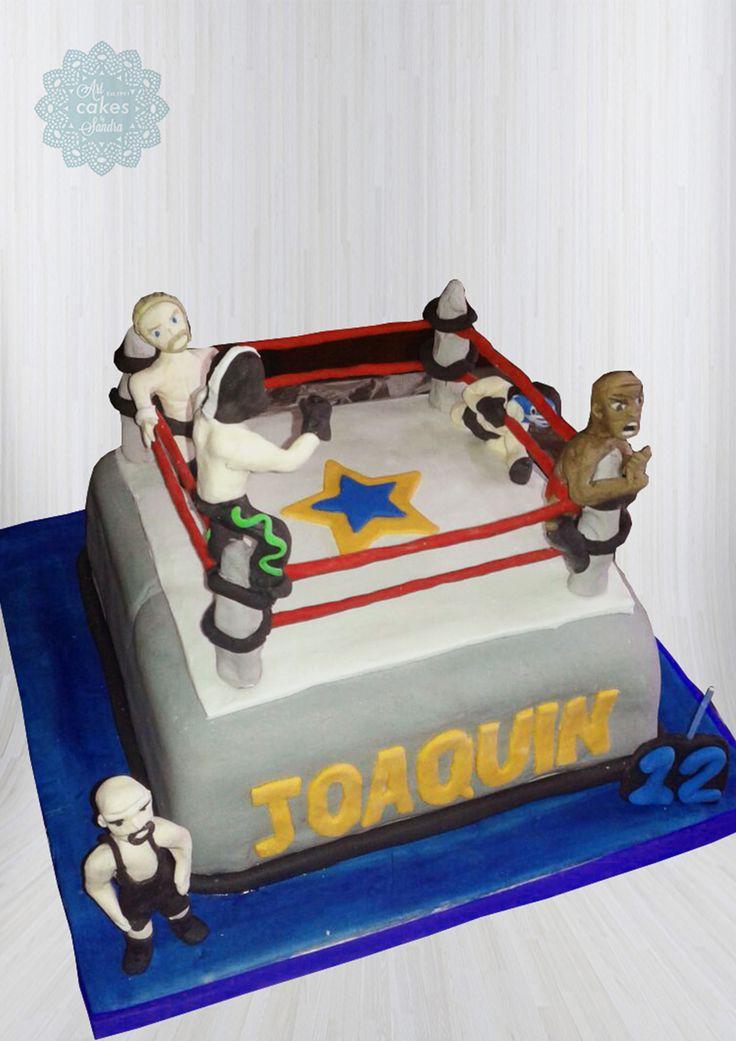 teen birthday cake theme  boxing fan#boxers#ring#teen#bysandradesouza