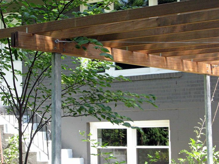 Handsome Pergola Galvanized Metal Supports Custom Made