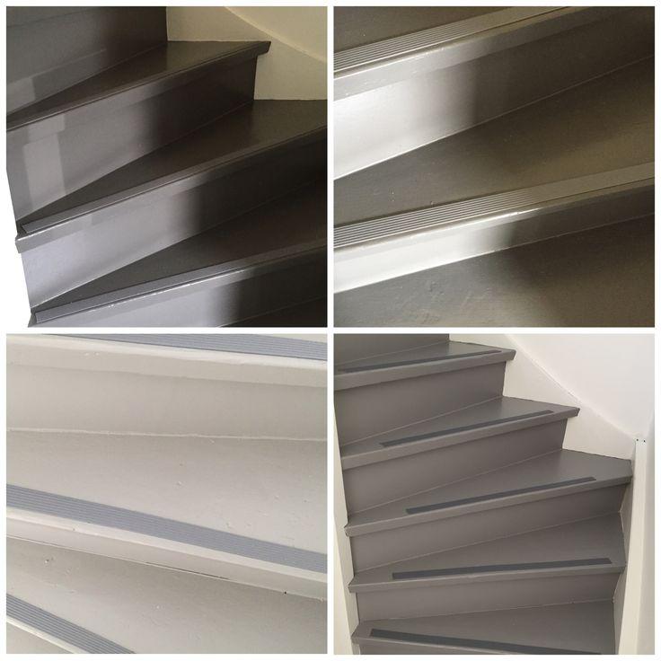 Grijs is de trend van dit moment! Kies ook voor een veilige en mooie trap met een zelfklevende antislip trap strip!