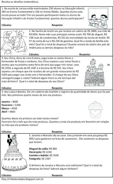 Infantividades: Histórias Matemáticas - Adição e Subtração - Unida...