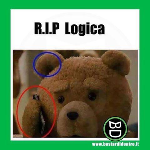 Quando la #logica muore!  Seguici su youtube/bastardidentro (Clicca in bio) #bastardidentro #ted #orecchio #telefono www.bastardidentro.it