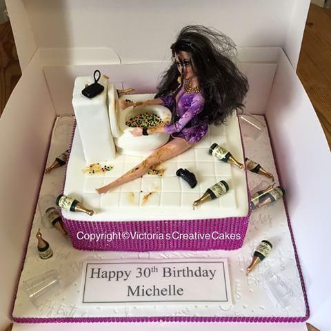 Vomit barbie cake #cake #cakes #cakeideas #barbie #barbies #barbiedoll #barbiecake #gross #drunk #drunkenmess #vodca