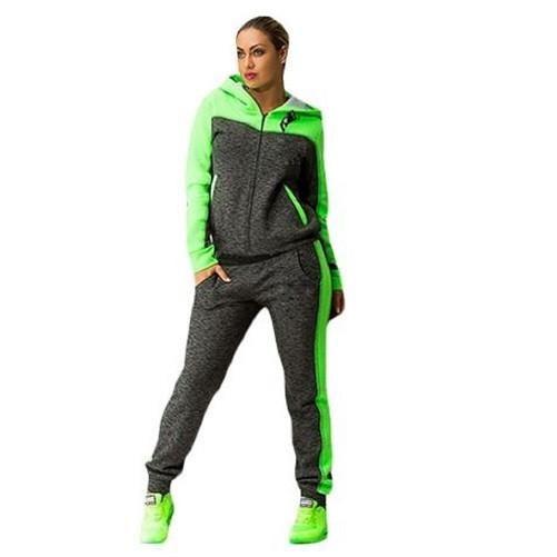 Description: Hooded Jogging Suit $49.99 - Kwikibuy.com™®  Plus Size Hooded Jogging Suit, Two-piece Suit, Long Sleeve, Zipper, Slim Long Pants.