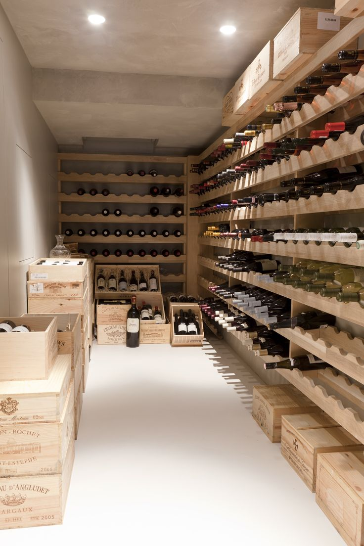 Townhouse at the park; wine cellar; design Remy Meijers