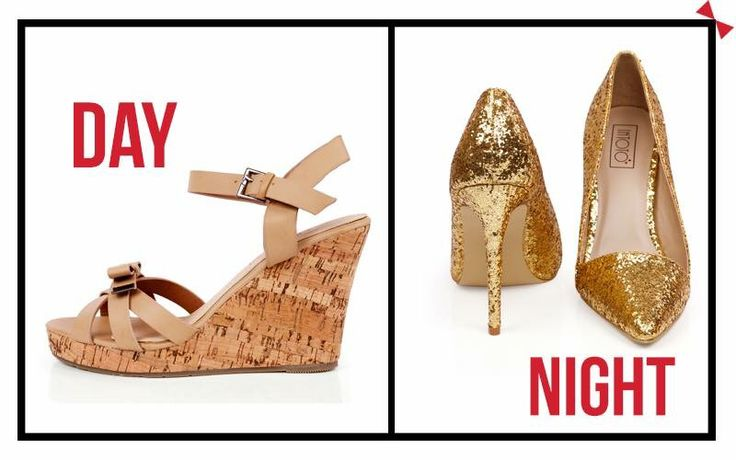 #goldglitterpumps for the nights and basic beige wedges for daily comfort by INTOTO  #Smitten Kitten #HappilyEverAfter #pumps #wedges
