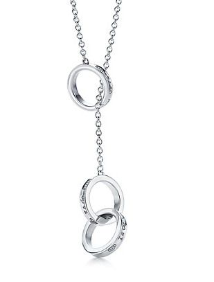 Tiffany & Co Outlet 1837 Interlocking Circles Lariat Necklace