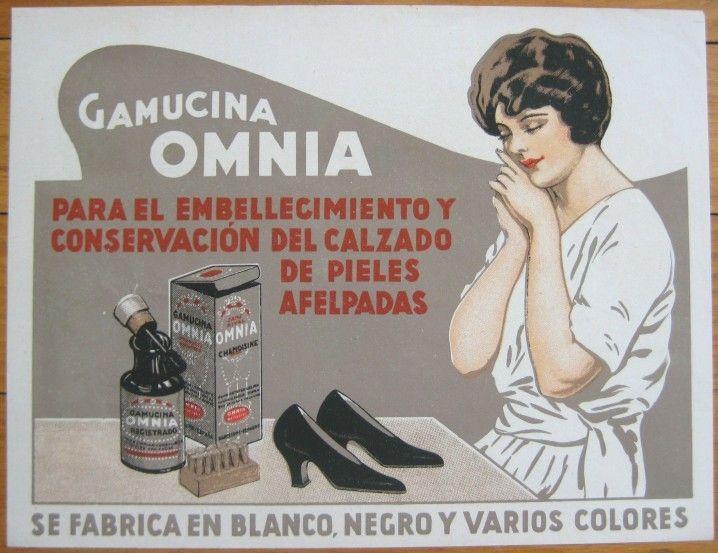 Details about c. 1920 Color Litho Spanish 'Omnia' Shoe ...