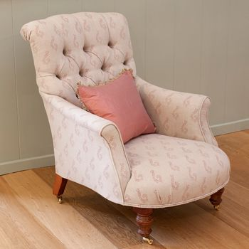 Armchair - Button Backed - handmade