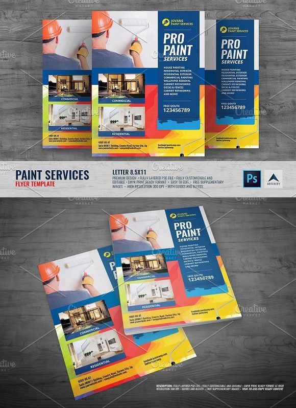 Paint Services Flyer With Images Flyer Flyer Design Flyer