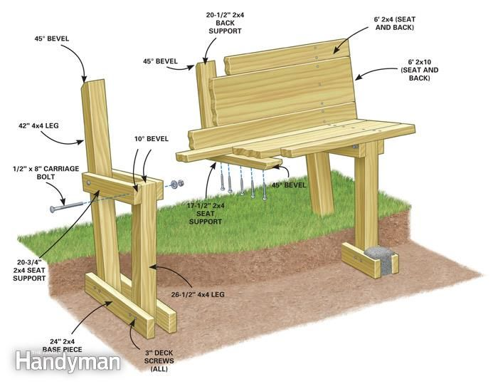 how to build a campfire bench