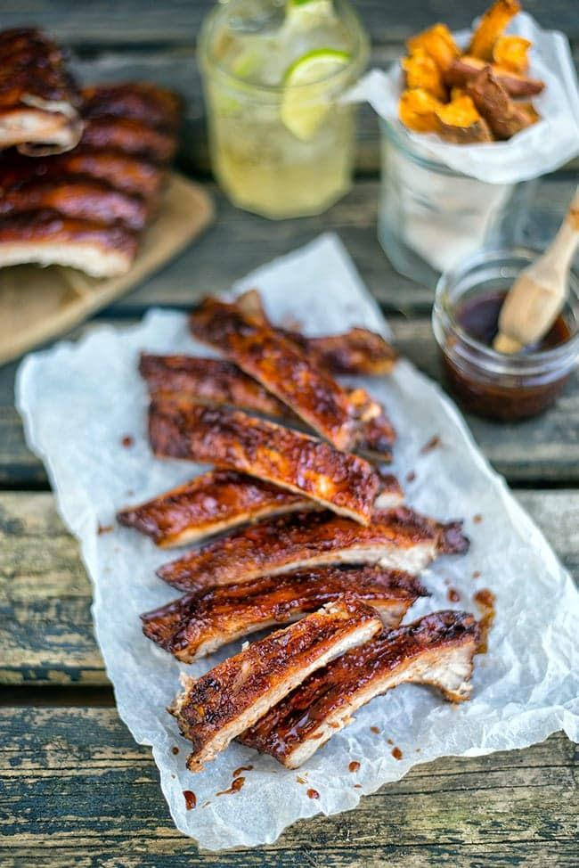Pin for Later: 15+ Legitimately Finger-Licking Rib Recipes to Barbecue This Summer Dry-Rubbed Ribs With Bourbon-Spiked Barbecue Sauce Get the recipe: dry-rubbed ribs with bourbon-spiked barbecue sauce