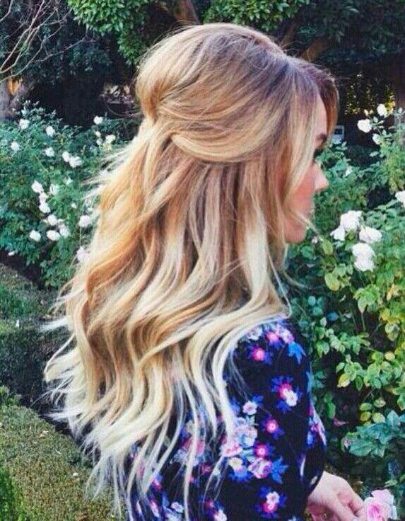 dark blonde to light blonde.