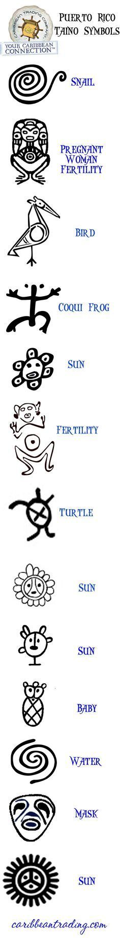 taino symbols I have two so far and plan to put then all on my body.  Puerto Rican Pride, Taino Pride.