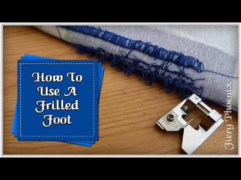 How To Use a Fringe Foot with Bloopers at the end - YouTube