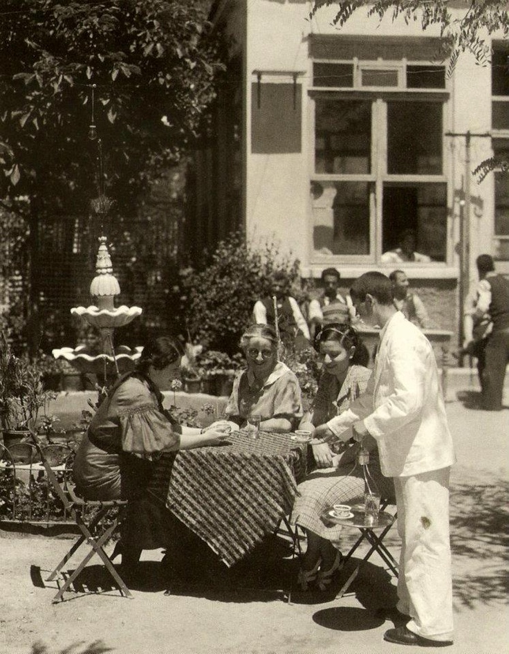 ✿ ❤ Bir zamanlar İstanbul, Sometime in 30's maybe. Bebek Kahvesi. One of the top examples of Turkish Cafe'