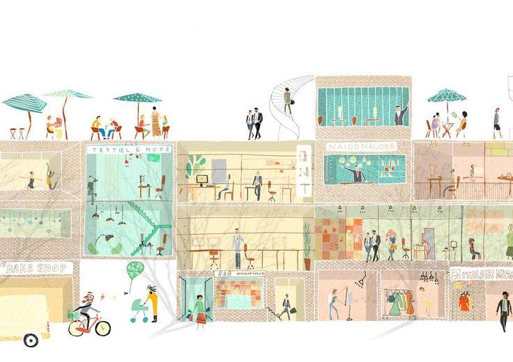 Special Economic Block, Rotterdam, Section - Maxwan Architects + Urbanists