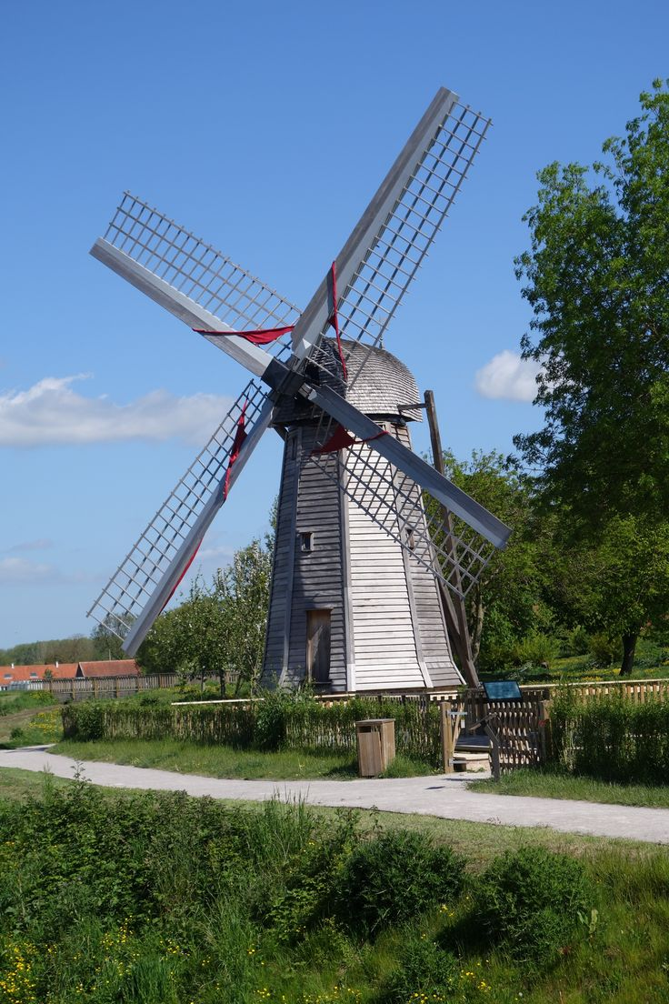 Windmill in the Marais at St Omer - thematuretraveller.co.uk