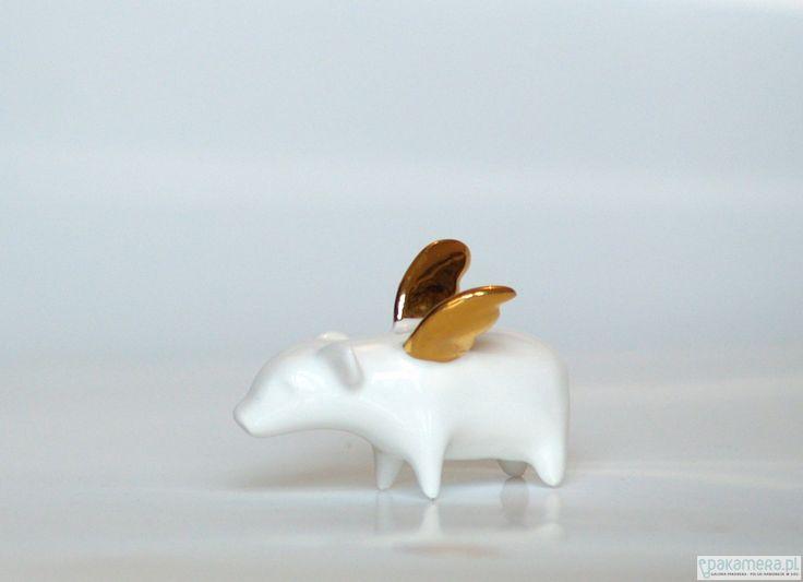 porcelana i szkło - różne-Porcelanowa świnka