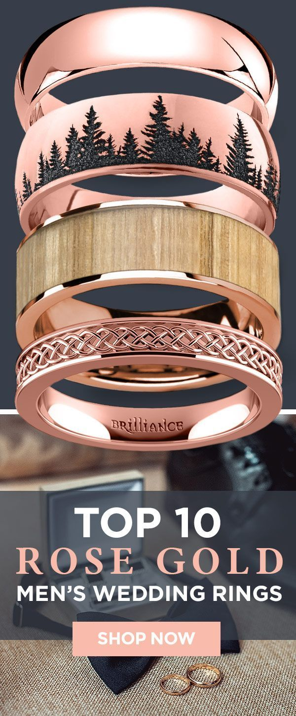 Looking for the perfect rose gold wedding band check out our most