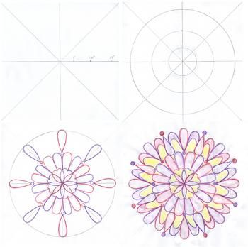 Draw your own beautiful mandala with this easy technique that ensures symmetrical results every time!