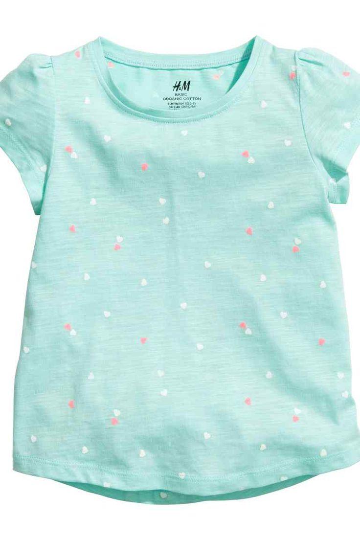 Bluze de jerseu, 2 bucăţi - Verde-mentă/cu inimă - COPII | H&M RO