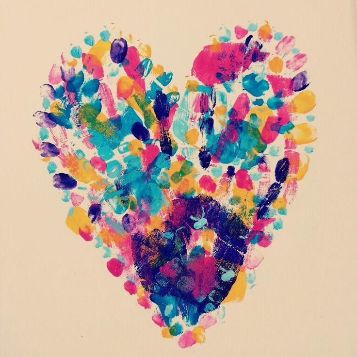Handprint heart ♡
