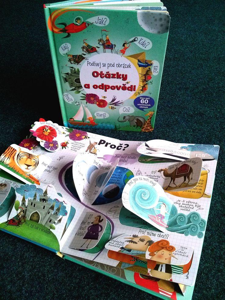 Najděte s touto encyklopedickou knížkou pro děti s více než 60 otevíracími okénky odpovědi na nejčastější otázky týkající se světa kolem nás.#kniha #encyklopedie #naucne #okenka #odklapeci #deti