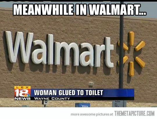 Woman Gets Super Glued To Walmart Toilet