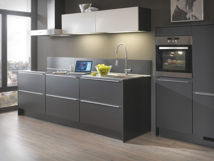 Contemporary Gray Kitchen Cabinets gray shaker kitchen cabinets : contemporary kitchen design ideas